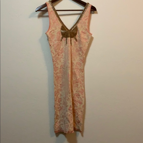 Free People Dresses & Skirts - Free People Gold Sequin Pink Dress